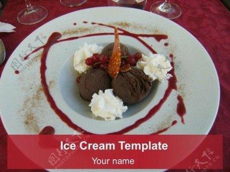 冰淇淋的PowerPoint模板