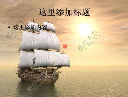 海面上航行的帆船