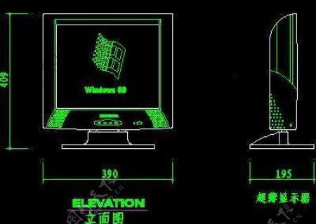 电视机图块视听设备图块影院音响组合图块电脑CAD图块3