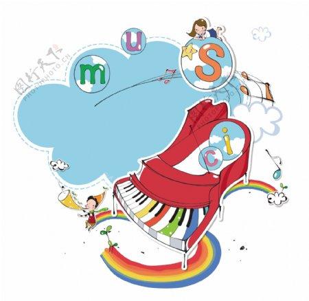 钢琴与小孩