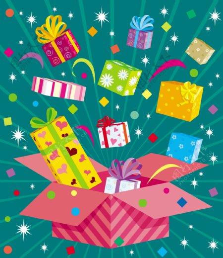 节日礼品丝带盒