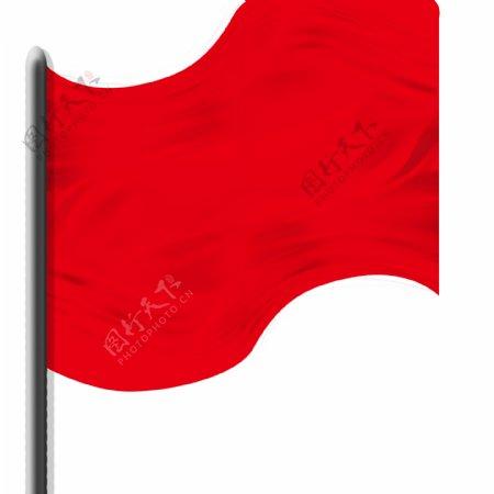 动感动态红旗飘杨