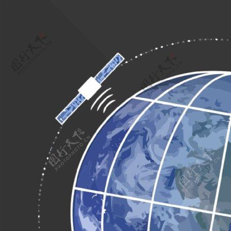 卫星绕地球SVG