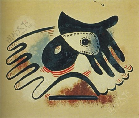 1923Gantetmasque西班牙画家巴勃罗毕加索抽象油画人物人体油画装饰画