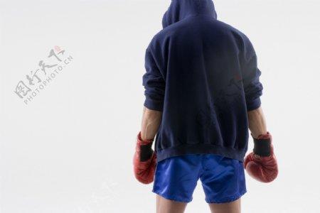 拳击手背影图片