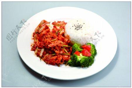 韩式烧烤肉饭图片
