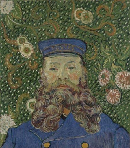 凡高邮递员约瑟夫183鲁兰的肖像图片