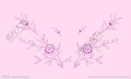 花型对称图案图片