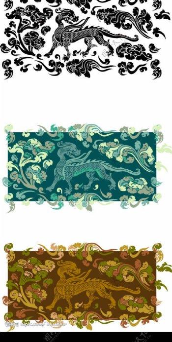 矢量古典花纹图片