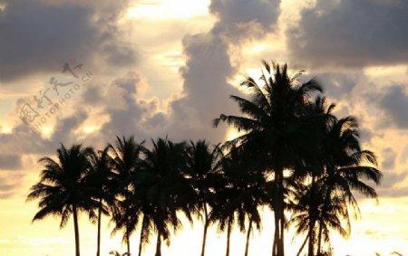 晚霞风景图片