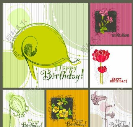 手绘古典花纹欧式花纹卡片贺卡图片