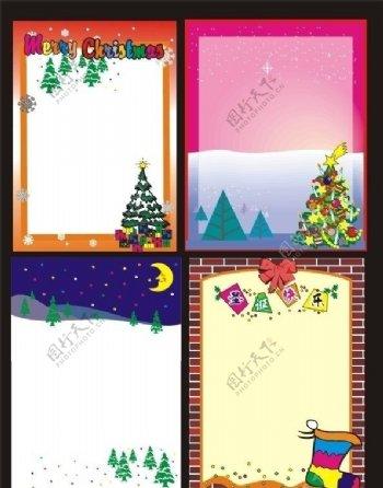 圣诞展板模板CDR格式图片
