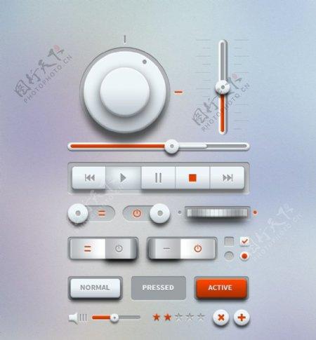 音乐UI界面素材图片