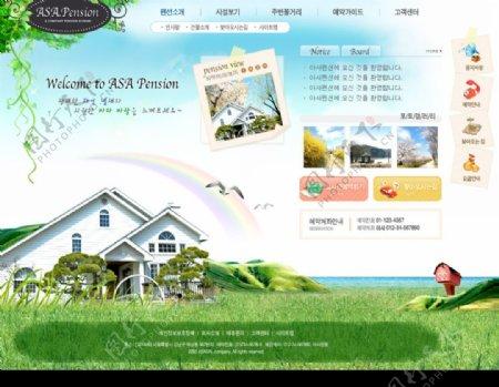 海边别墅小区信息网站界面图片