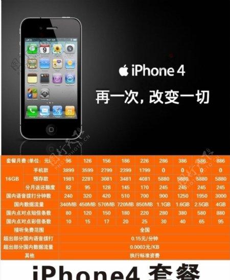 iphone4套餐图片