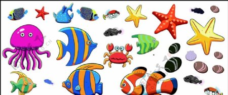 矢量鱼类素材