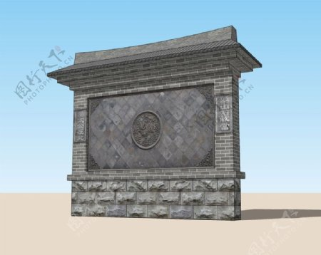 照壁3D模型