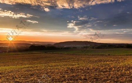 夕阳晚霞风景