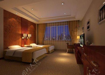 酒店标准间模型