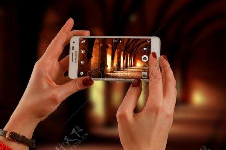 用手机拍照