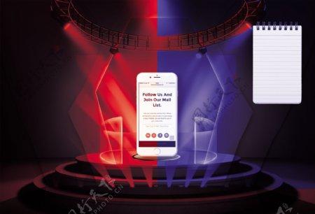 红蓝底线图iPhone