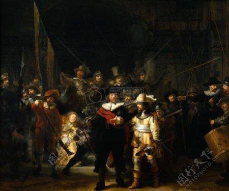 伦勃朗代表油画作品