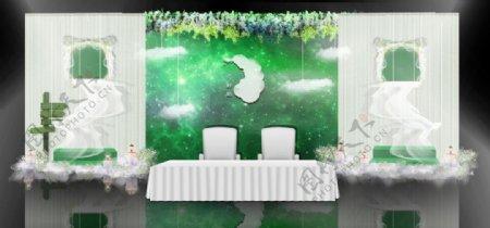 婚礼签到区LOGO效果图设计