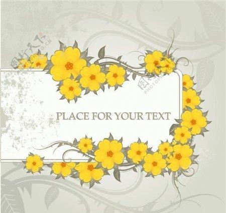 时尚花朵花纹卡片矢量素材eps格式01