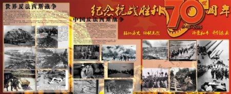 纪念抗战70周年展板