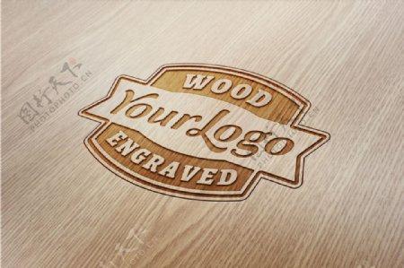 木纹LOGO效果图贴图