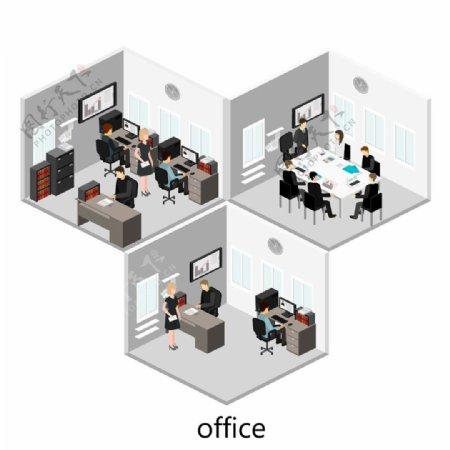 三个办公室设计图片