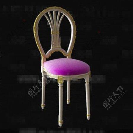 欧洲风格的白色黄金旁边的椅子