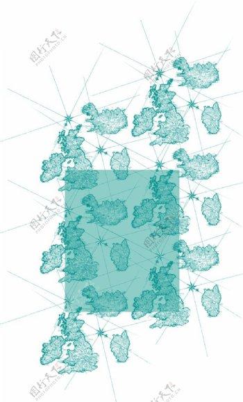 服装设计面料花型设计矢量图下载