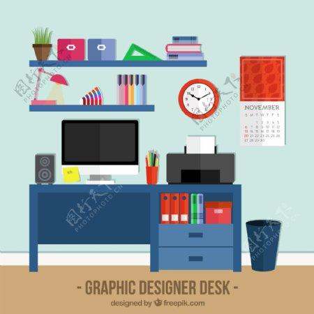 平面设计师的桌面