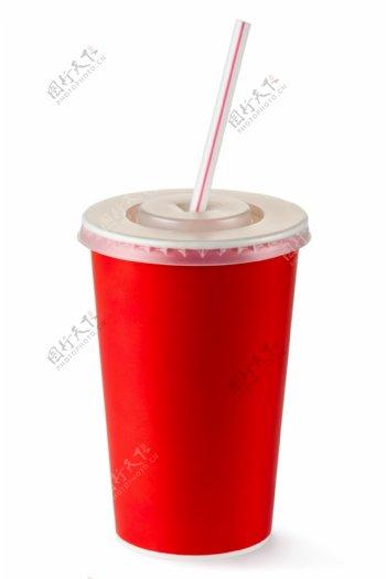 红色饮料杯摄影