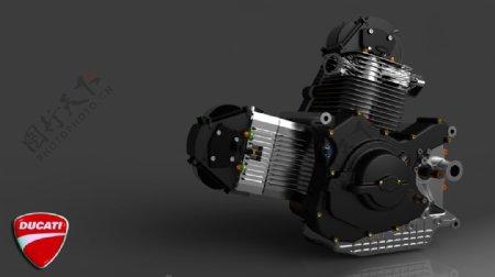杜卡迪V2引擎渲染