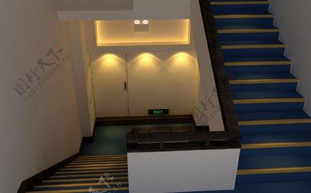 好友宾馆楼梯