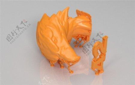 鹰模型3D打印模型