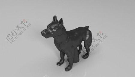 狼狗3D打印模型