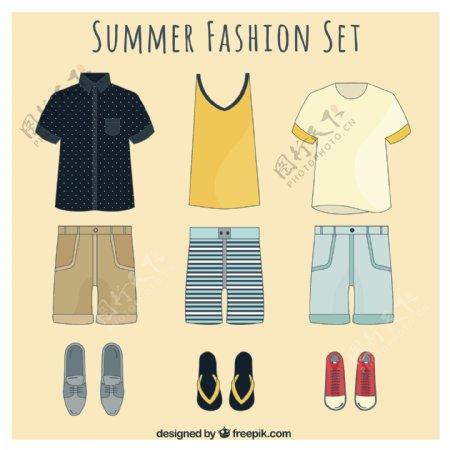 夏天服装素材
