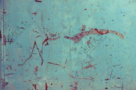 蓝色背景墙