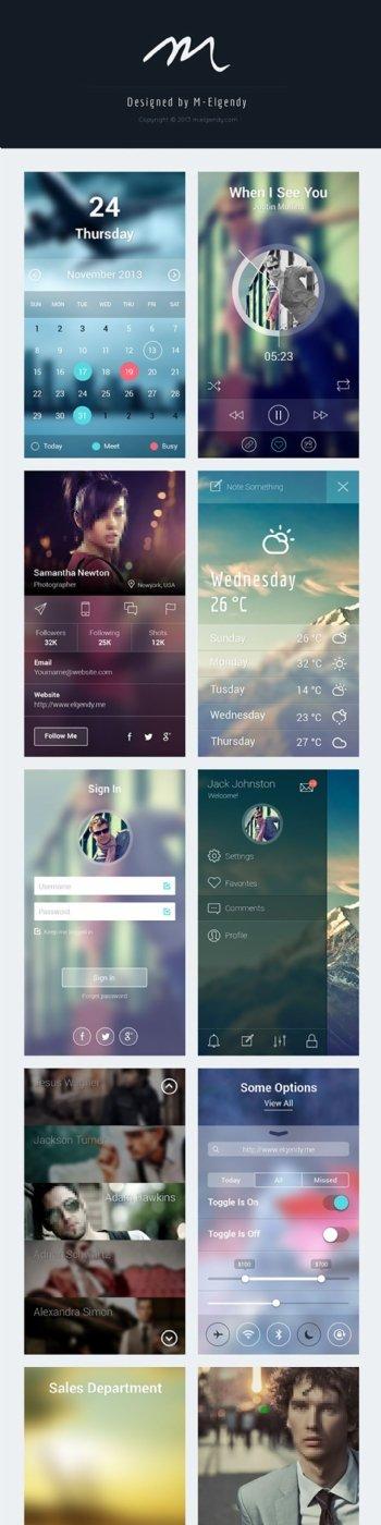 iOS7应用程序模板PSD分层