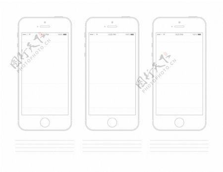 iPhone5线框图片