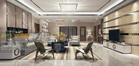 客厅家居3D模型素材免费下载
