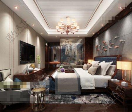 卧室空间3d模型素材设计