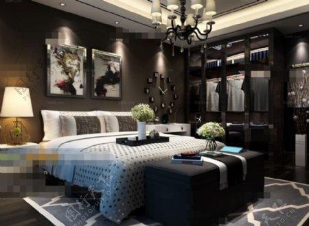 卧室空间布局3D模型素材