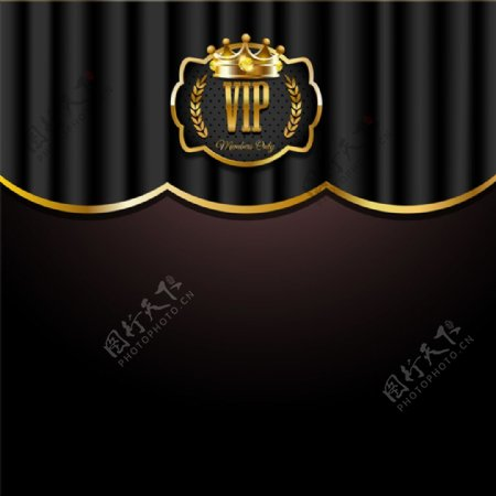 奢华VIP卡片背景设计矢量素材下载
