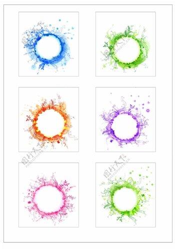 笔刷设计应用背景图案矢量素材AI格式0254