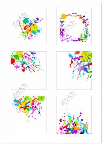 笔刷设计应用背景图案矢量素材AI格式0360