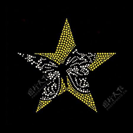 烫钻几何星形动物昆虫免费素材
